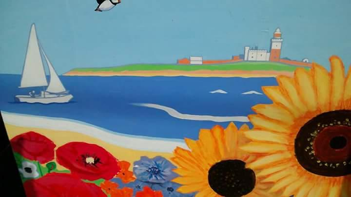 This Painting is at Alnmouth Station Platform 1